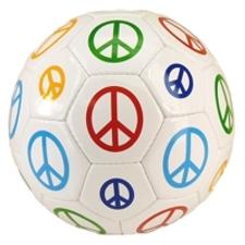peace sign soccer ball