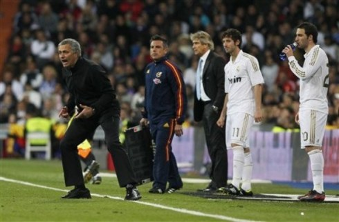 Jose Mourinho, Esteban Granero, Gonzalo Higuain, Manuel Pellegrini