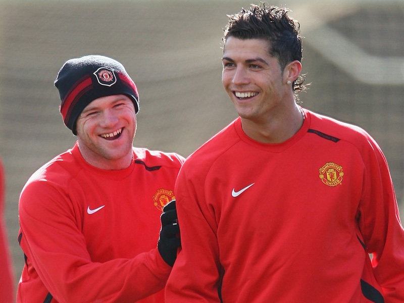 Wayne Rooney and Cristiano RonaldoWayne Rooney And Cristiano Ronaldo Fight