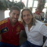 Sergio & former Blanco Michel Salgado