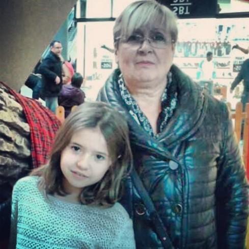 Paula with her grandma Romero