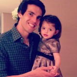 Kaka and Isabella on her birthday