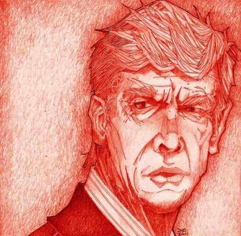 Arsene Wenger by Brian Cabaniss (@11cannons)