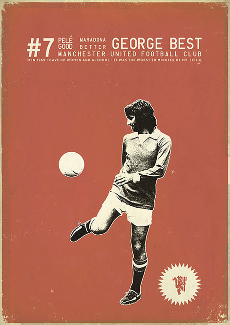 George Best by Zoran Lucic (@zoranlucic)