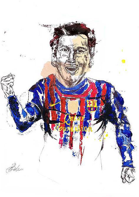 Lionel Messi by  Sahara Charles (@SaharaKoala)