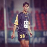 """Cris posted this shot with the caption """"Early days in Sporting Clube de Portugal"""""""
