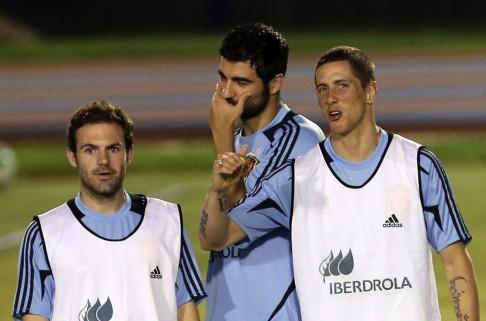 Juan Mata, Alvaro Arbeloa, Fernando Torres