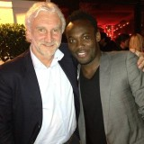 Michael Essien with Rudi Voller