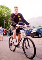 Marco Reus on a bike. Just because.