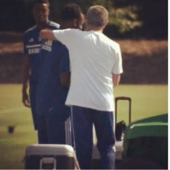 """Essien shared a training shot with his """"Daddy"""""""