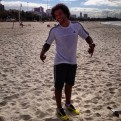 Marcelo training on the beach in Brazil