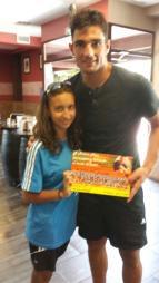 Adan with a fan
