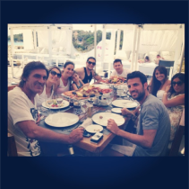 Pinto, Messi, Antonella, Daniella, Cesc & friends in Ibiza