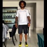 Speaking of, Marcelo did a bit of pre-pre-season training.