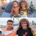 Thiago Silva & David Luiz. (The latter hashtagged it #clones)
