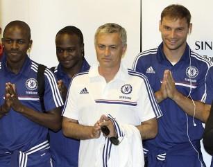 Jose Mourinho, Ramires, Victor Moses, Brabislav Ivanovic