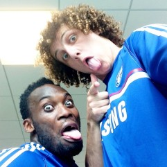 Essien & Luiz getting goofy