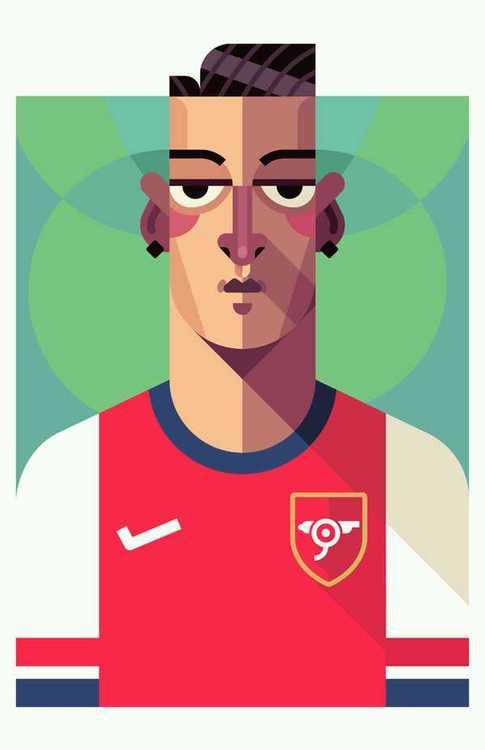 Gunner Mesut Ozil by Daniel Nyari @danielnyari