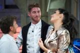 Spanish soccer player Sergio Ramos and his girlfriend Pilar Rubio attending a TV show 'El Hormiguero'