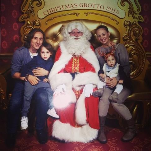 Luka, Ivano, Vanja & Ema meet Santa.