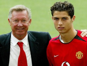 368726-august-13-2003-new-united-signing-and-cristiano-ronaldo-with-ferguson-