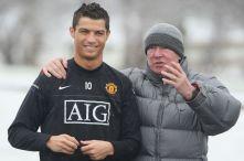 Cristiano Ronaldo and Sir Alex Ferguson -1314164