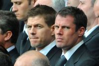 Liverpool players Jamie Carragher and Steven Gerrard -1679545
