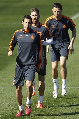 Cristiano Ronaldo, Angel Di Maria, Sergio Ramos