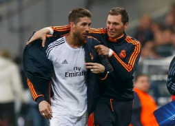 Real Madrid's Sergio Ramos comes off the pitch after being substituted during the Champions League semi-final second leg soccer match against Bayern Munich in Munich