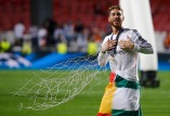 Real Madrid's Ramos celebrates after defeating Atletico Madrid in their Champions League final soccer match at the Luz Stadium in Lisbon