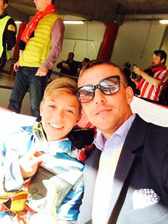 Guti & Aitor (he looks so much like his dad!)