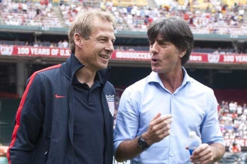 Jurgen Klinsmann and Jogi Low, Coaches of The United States and Germany