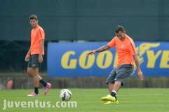 Allenamento mattutino Juventus