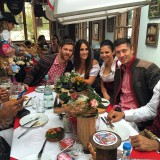 Xabi, Nagore, Anna Stachurska & Robert Lewandowski at Oktoberfest