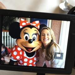 Carlota Ruiz & Minnie Mouse at Disneyland Paris.