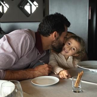 Alba Arbeloa Ruiz with her papi in Paris in mid-October