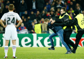Catching a pitch invader