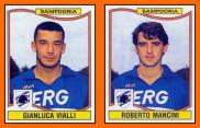 Gianlucca VIALLI - Roberto MANCINI - Panini Sampdoria Gênes 1991