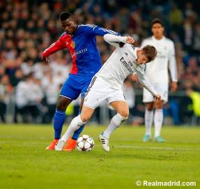 Kroos pushed off the ball