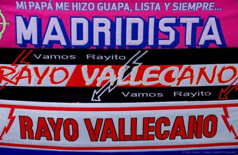 Madridista and Rayo scarves
