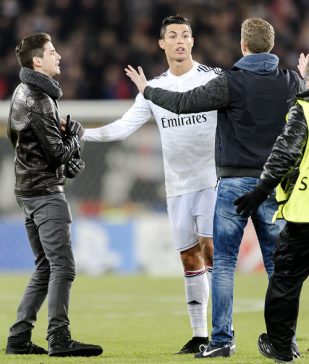 Two pitch invaders