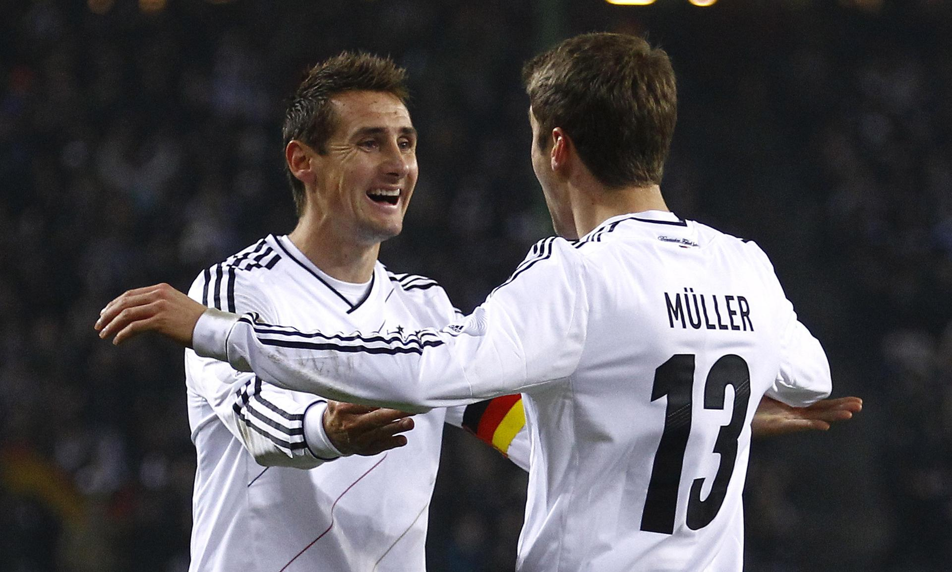Miroslav Klose a Thomas Müller