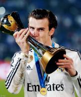 Bale kisses his latest trophy