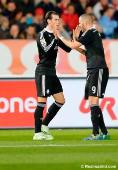 Benz and Bale celebration