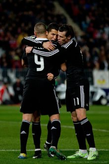 Benz and Bale giving Cris some love