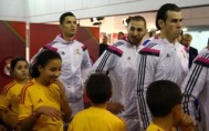 Cris, Karim, Gareth in the tunnel
