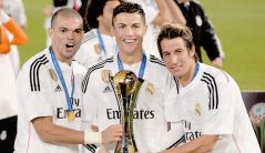Cris, Pepe, Coentrao with trophy