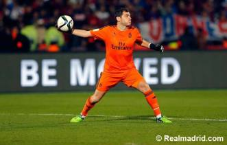 Iker throws the ball out