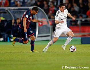 James controls the ball