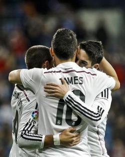 James embraces his minions
